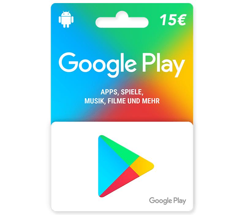 e-carte Google Play 15 €