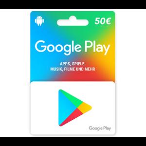 e-carte Google Play 50 €