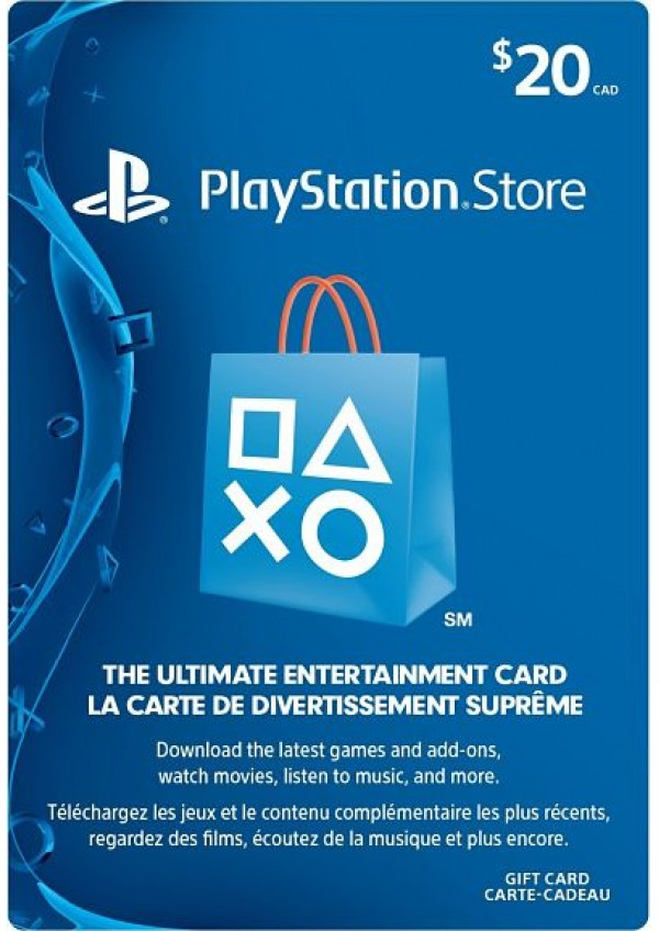 Carte PlayStation Store 20$ (compte US)
