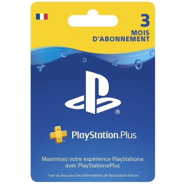PlayStation Plus abonnement 3 mois
