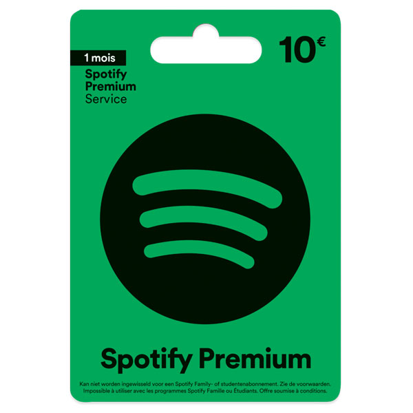 Carte cadeau Spotify Premium 10€