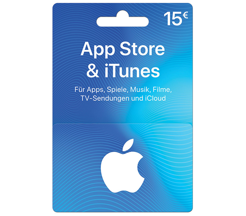 Carte App Store & iTunes de 15 €