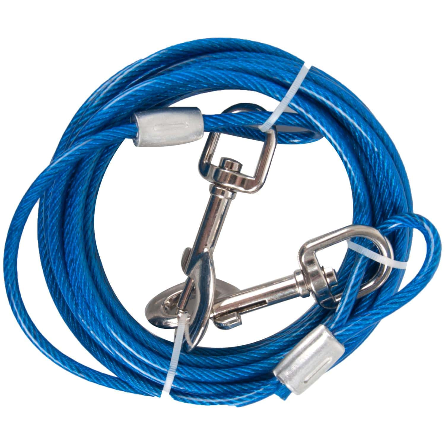 Cable d'attache bleu